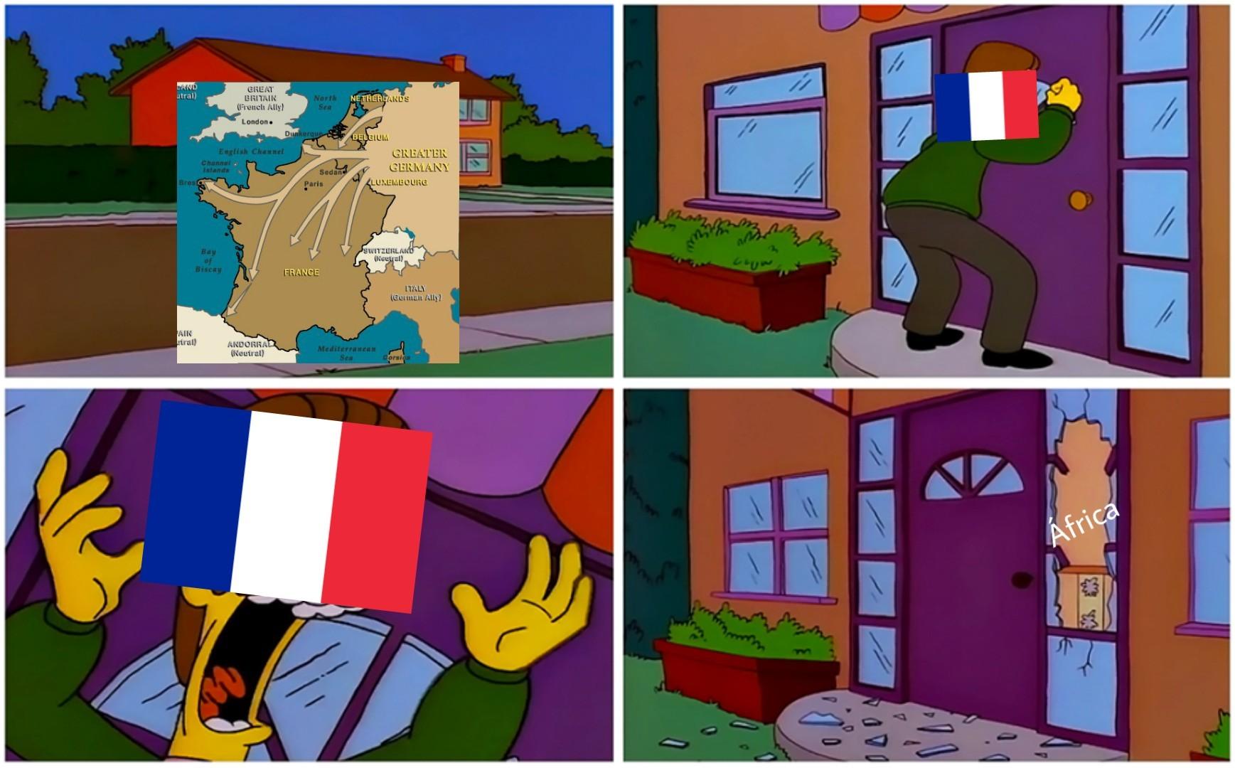 Campaña de Francia in a Nutshell - meme