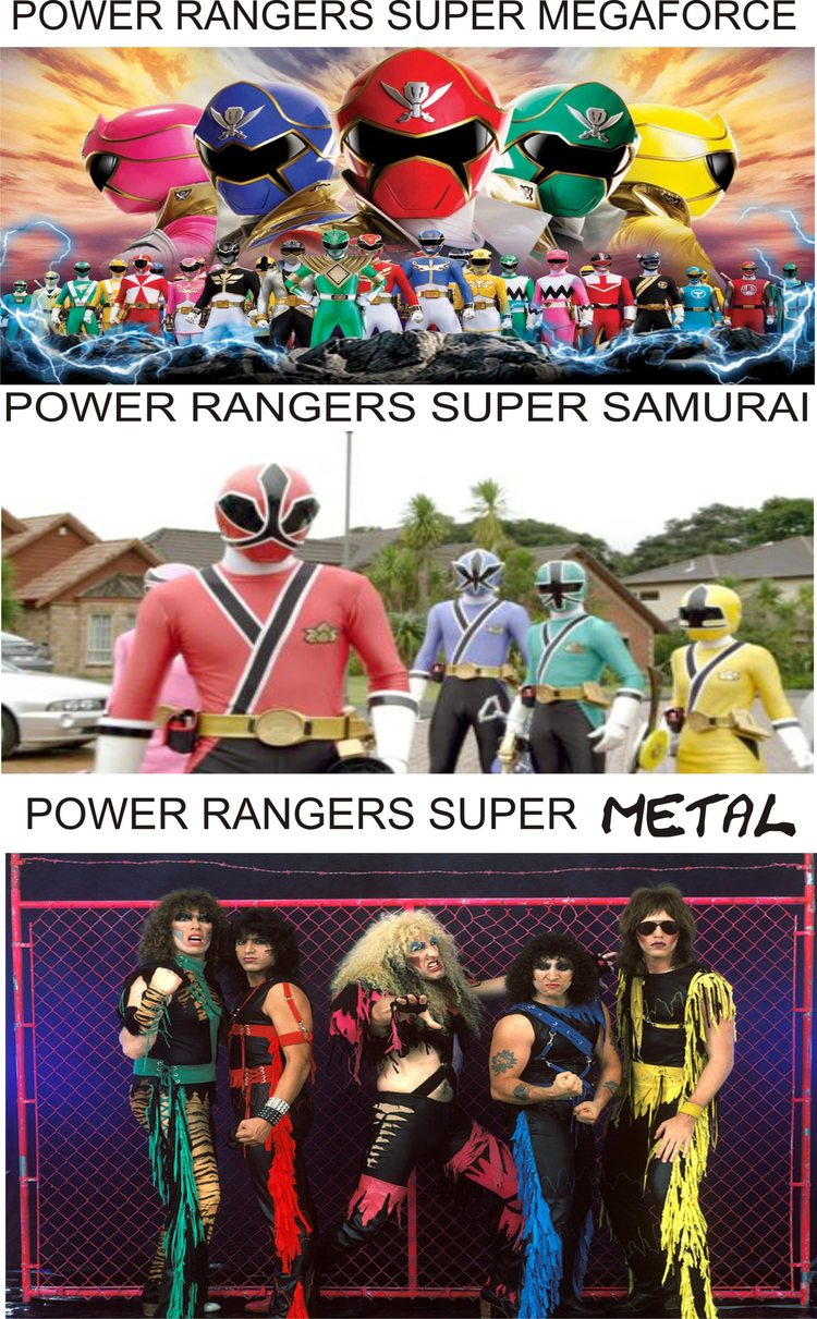 POWER RANGERS SUPER METAL - meme