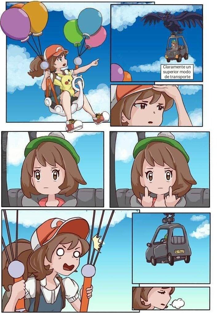 La nueva forma de volar por los cielos - meme
