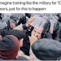 years of academy training wasted