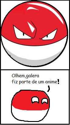 Polonia fez parte de um anime - meme