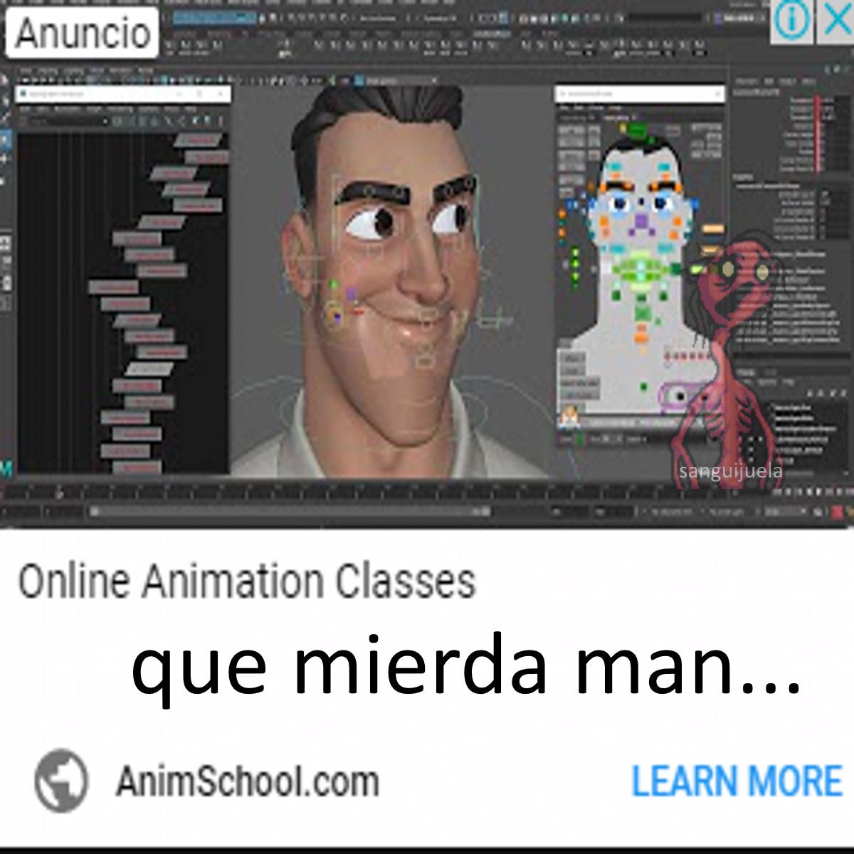Que Mierda los anuncios que me salen - meme