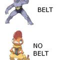 Put a belt on man