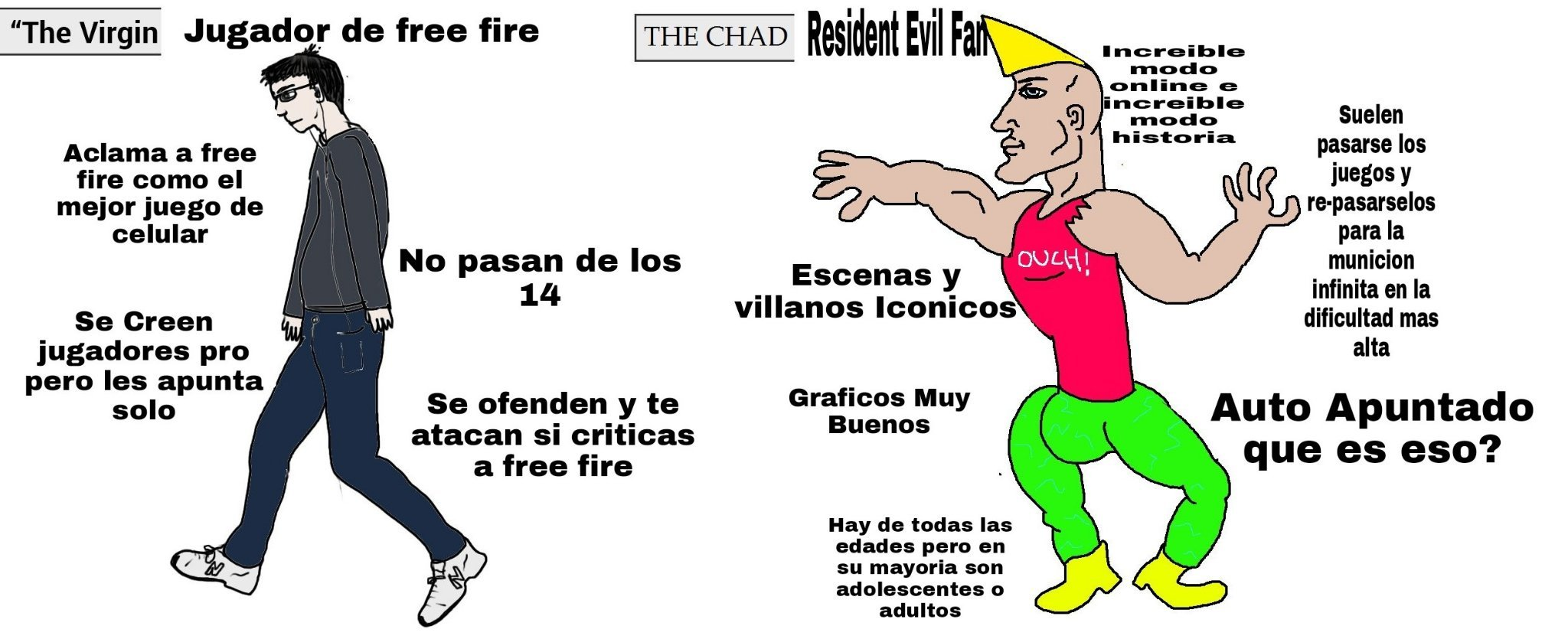 mi primer virgin vs chad - meme