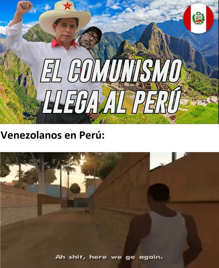 venezolanos migrados - meme