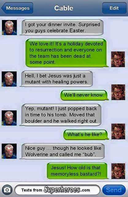 Wolverine = Jesus - meme
