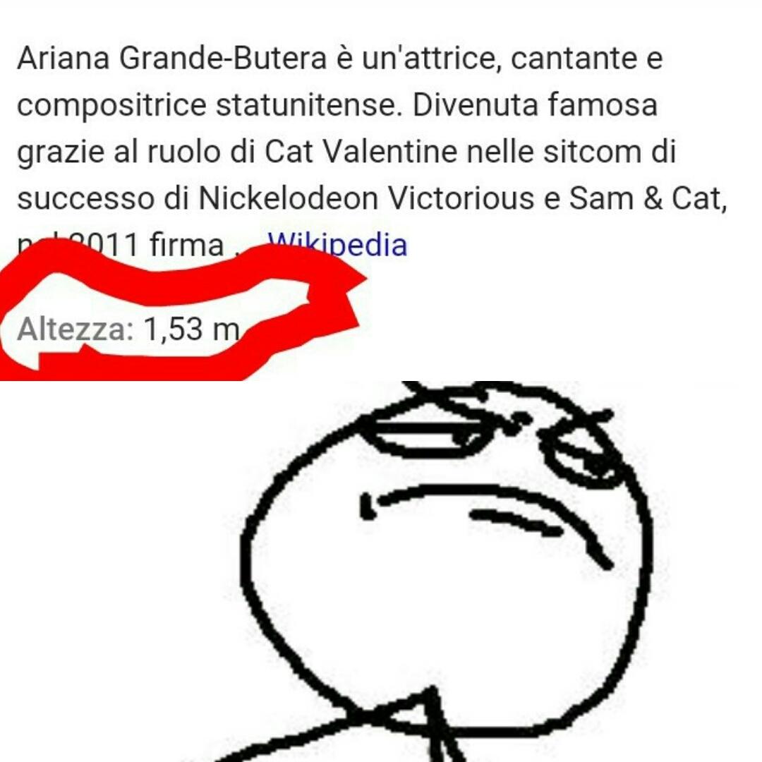 Sono più alto di Ariana Grande Oh sì - meme