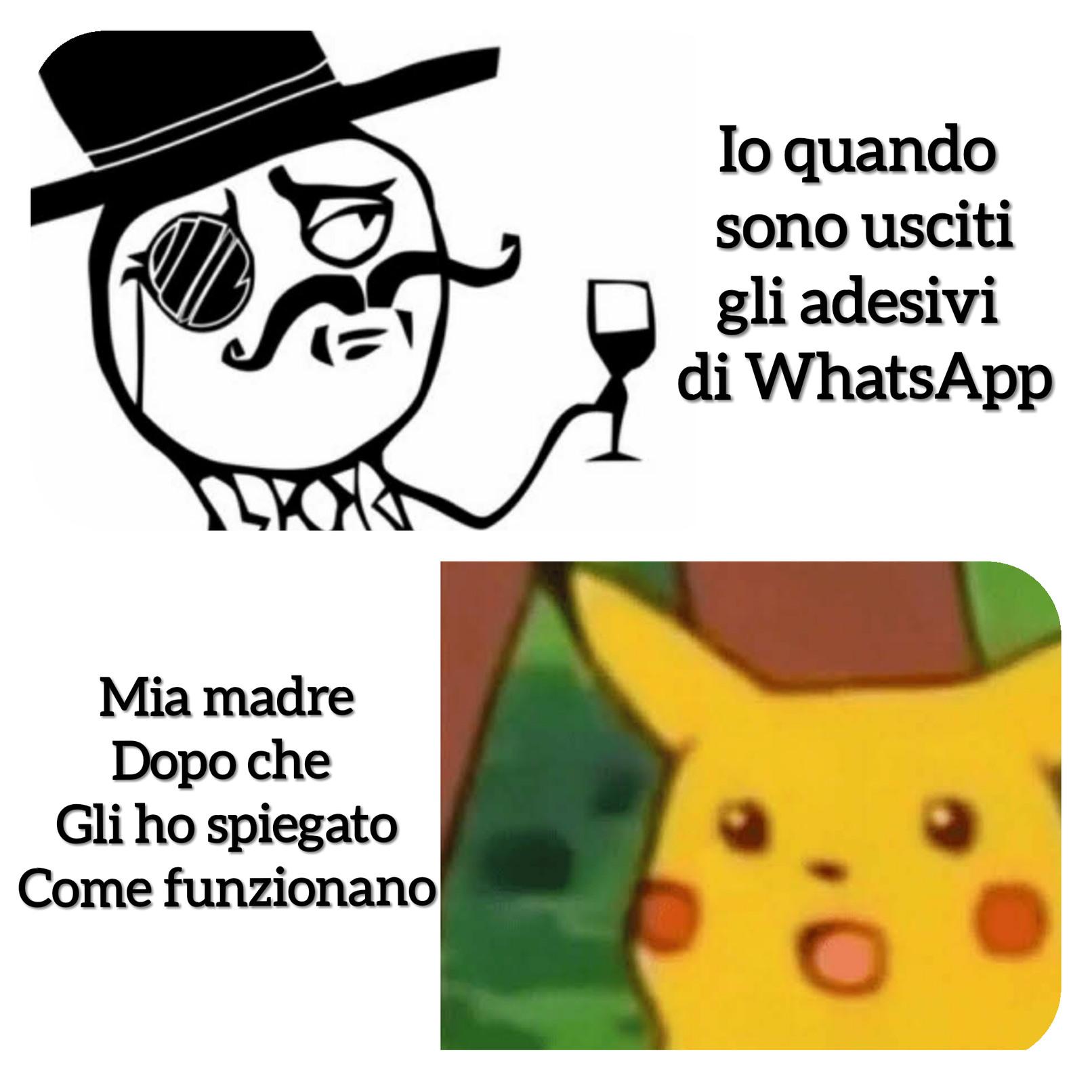 I nuovi stikers di WhatsApp - meme