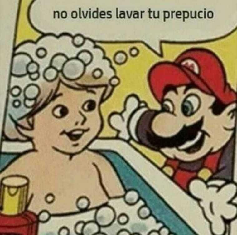 Mario higiénico - meme