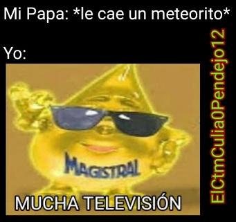 Que quiere que le diga papito, Usted se pasa todo el día viendo tele jaja - meme