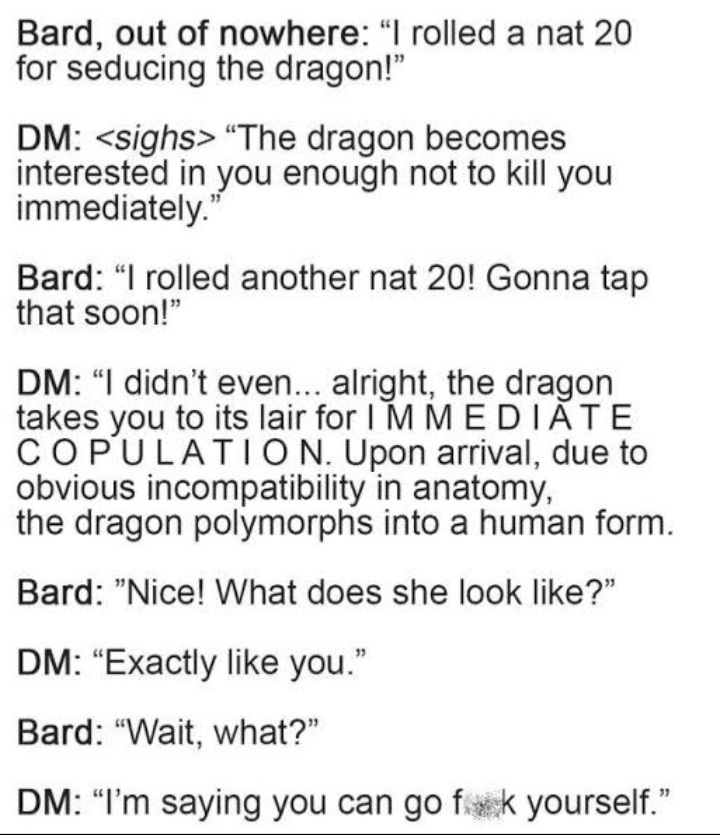 Our DM is the best and we love him - meme