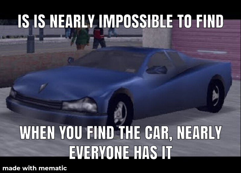 Problem with rare cars in gta - meme