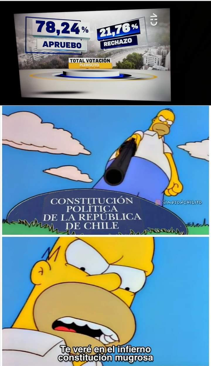 Bienvenido Chile a la desgracia de Latinoamérica... Mira mí perfil - meme
