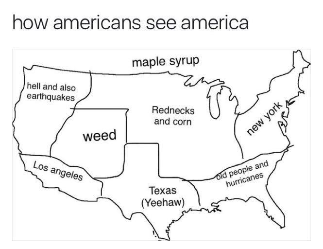 How Americans see america - meme