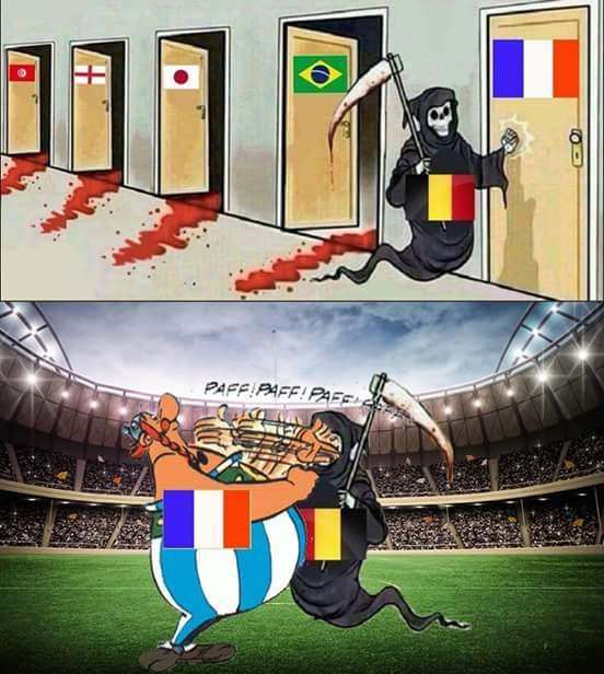 Le résumé du match france-belgique - meme