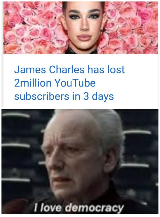 James Charles has lost 2 million YouTube subscribers in 3 days - meme