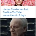 James Charles has lost 2 million YouTube subscribers in 3 days