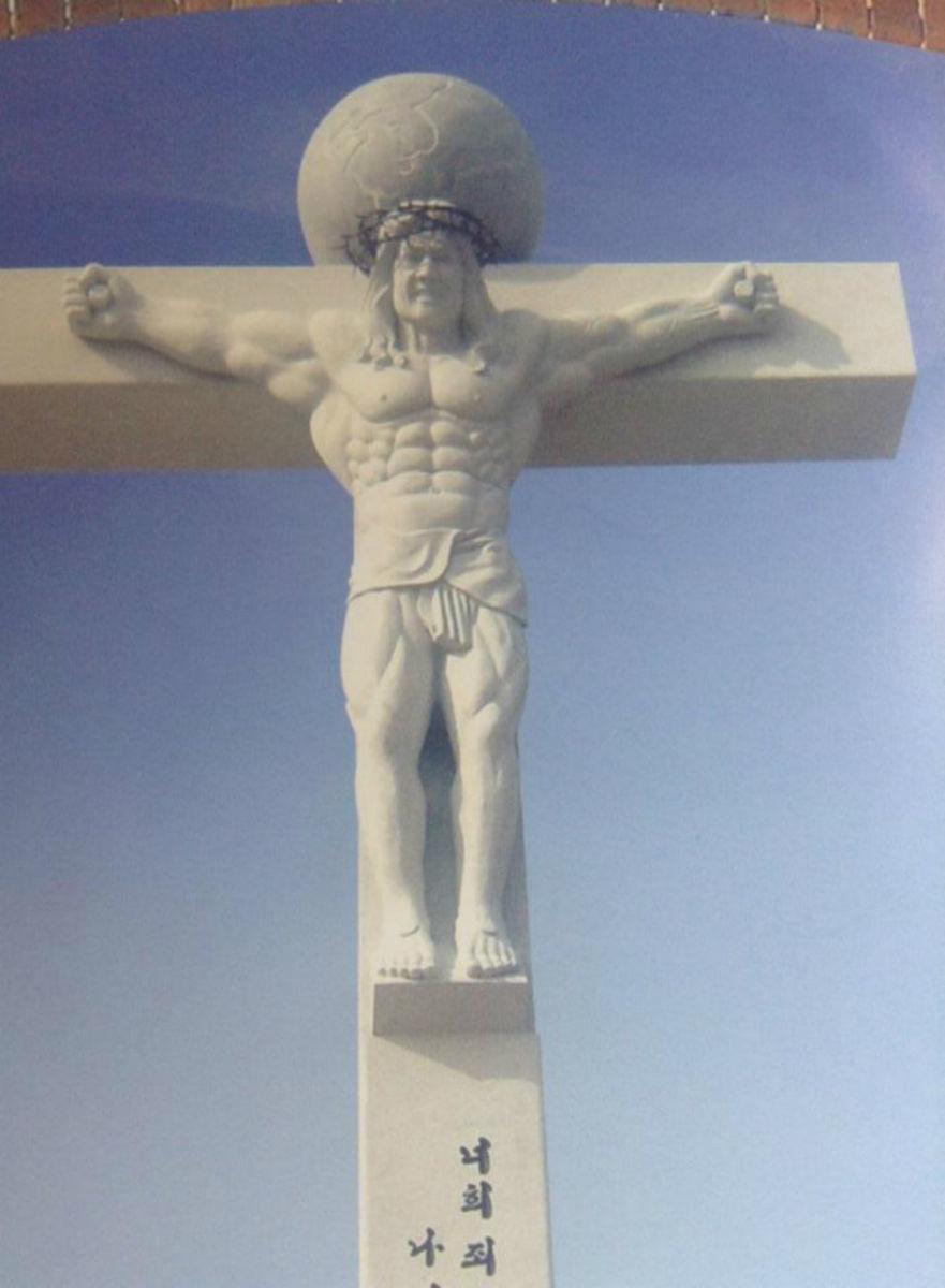 Jesus musculoso - meme