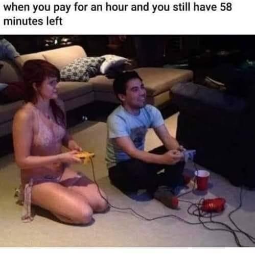 I'd have 59:36 left - meme