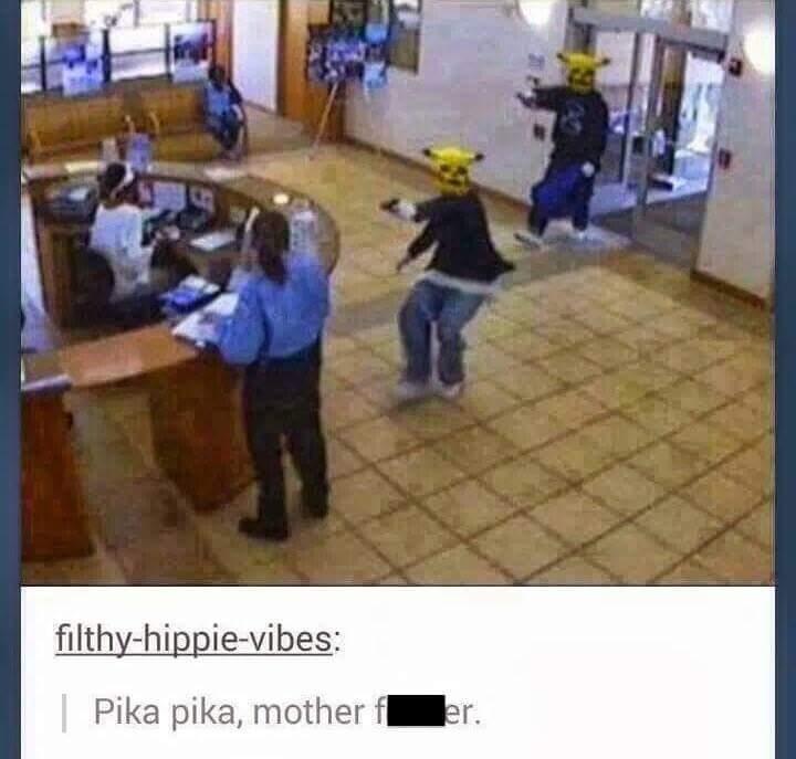 Pikachu ain't playin no games - meme