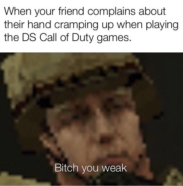 COD DS hurts - meme