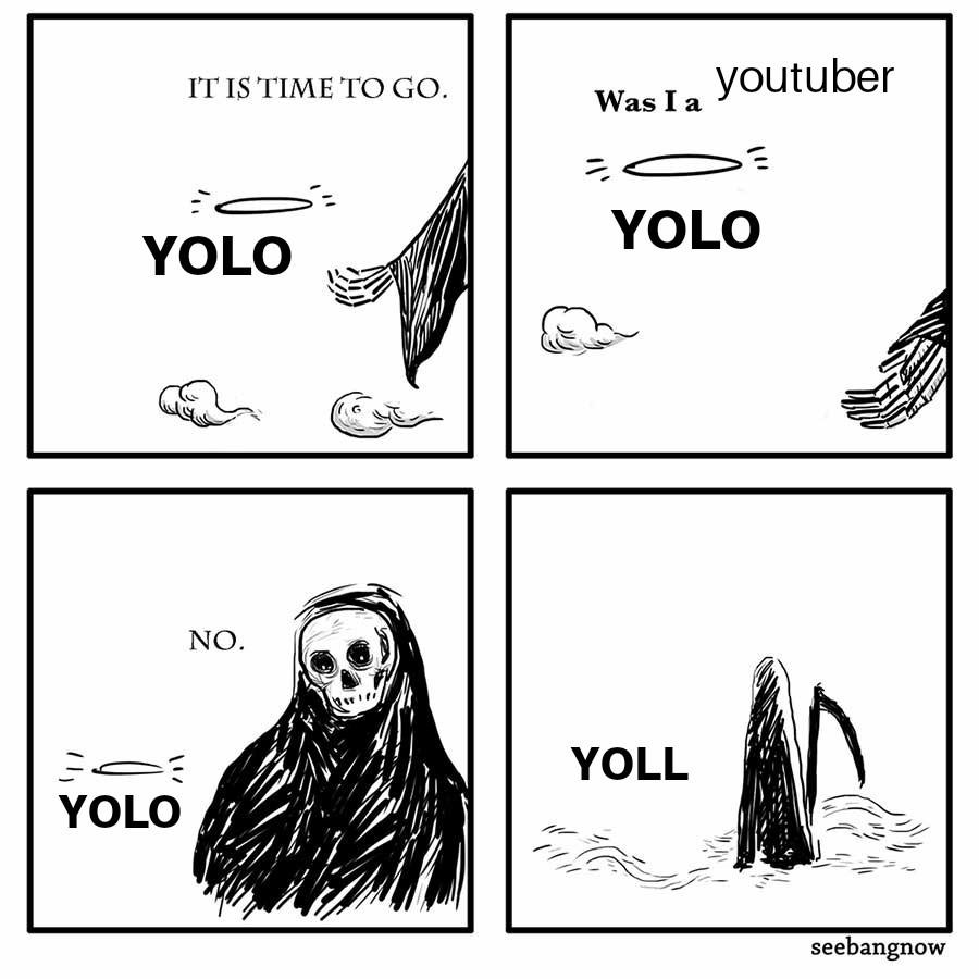 Perdón el yoll quería decir yolo no me funen - meme