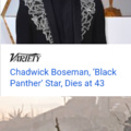 Today is a sad day.  Wakanda Forever.