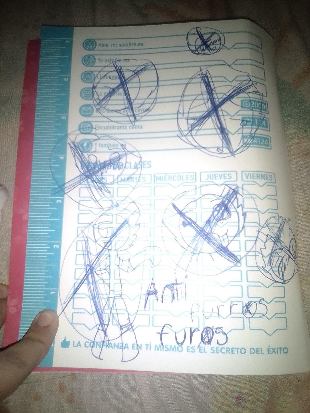 El cuaderno es de mi prima :trollface: - meme