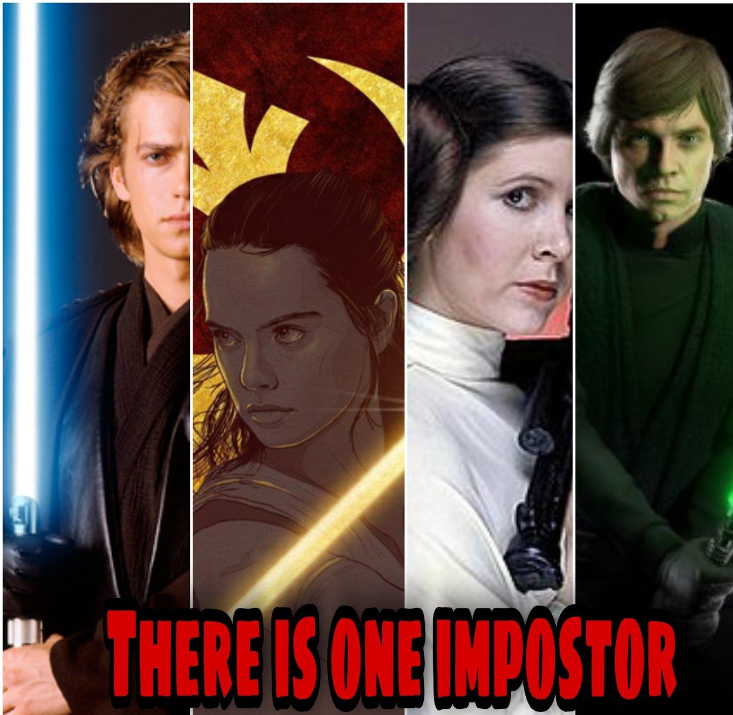 Among us Star wars edition - meme