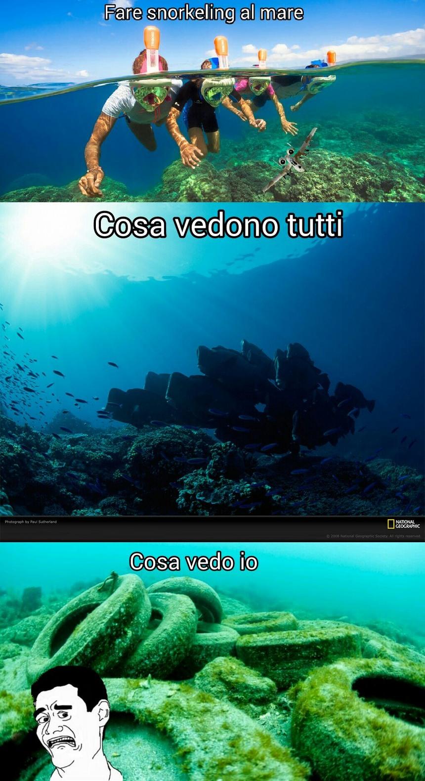 Che mare sporco... - meme