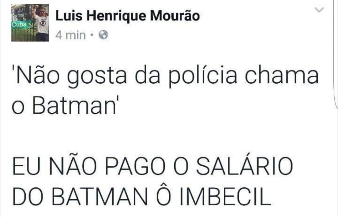 Batman não existe - meme