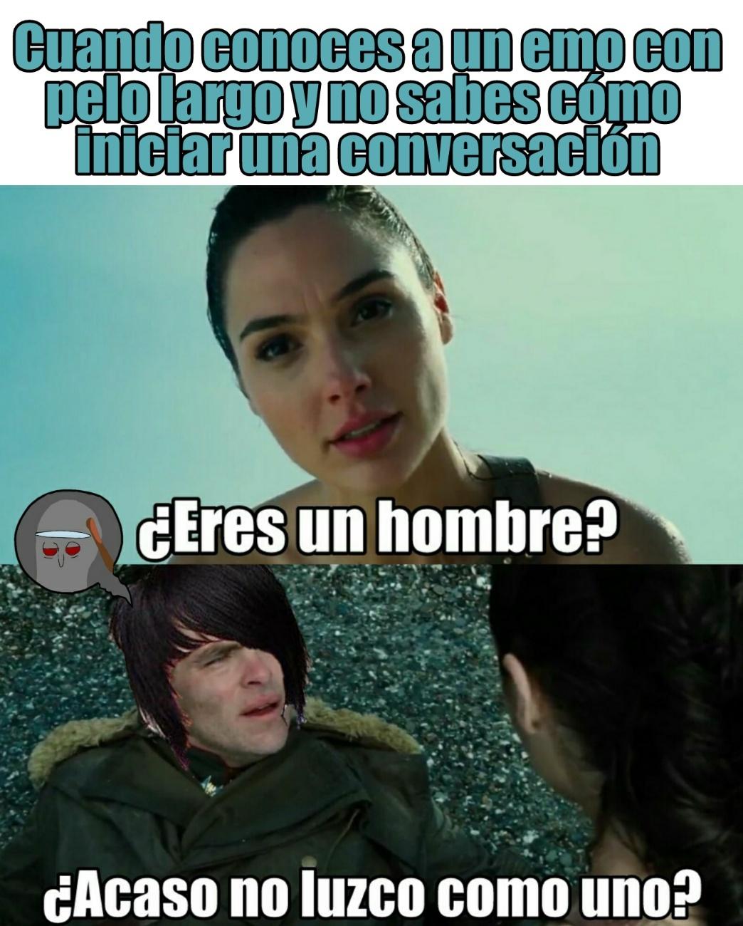 Original :D | Cortate el pelo >:( - meme