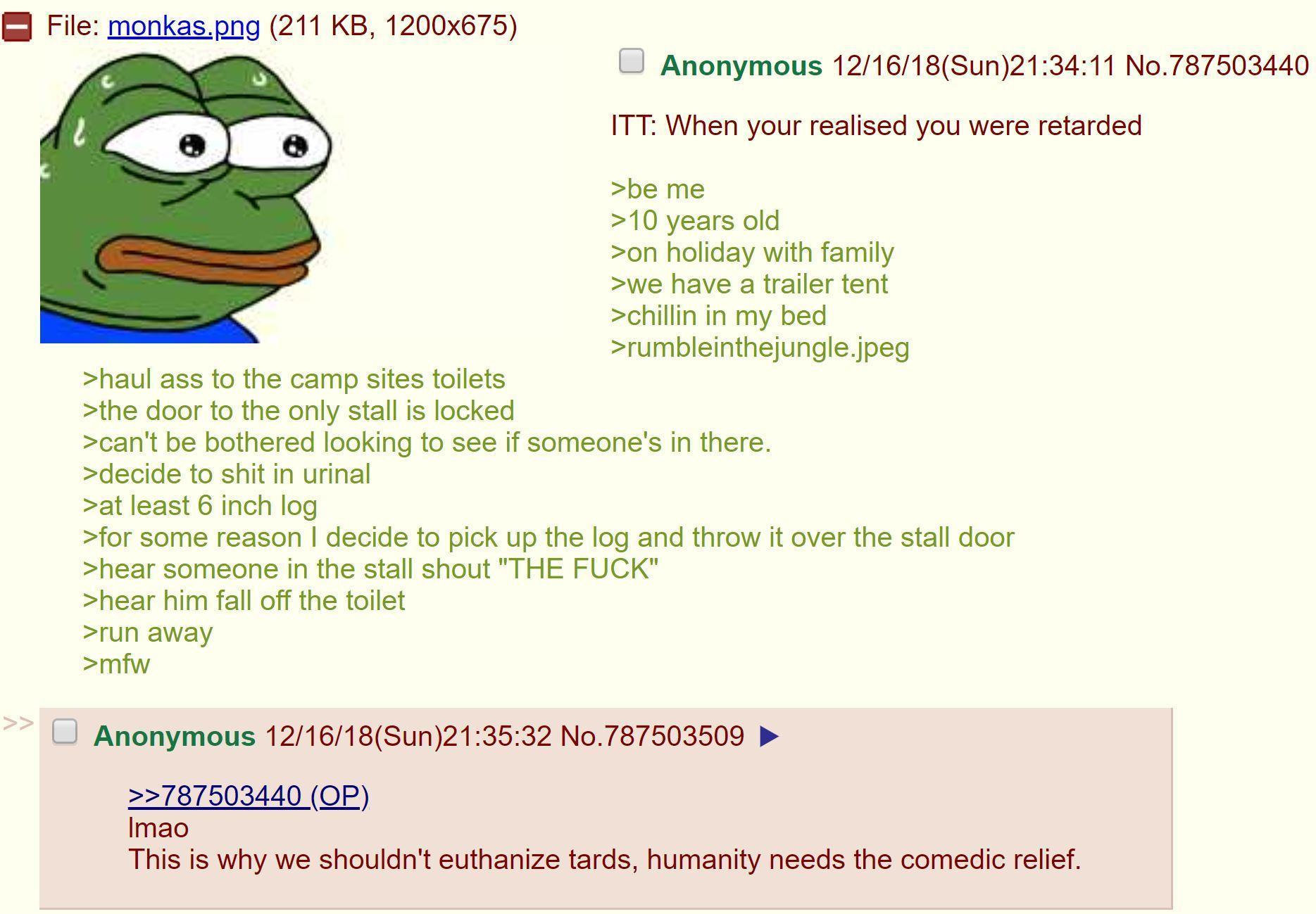 Anon is retarded - meme