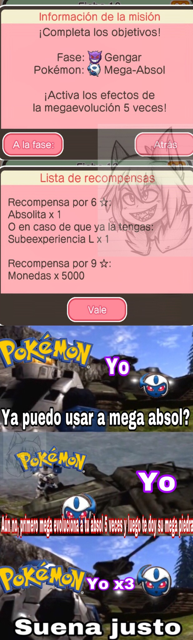 Me pide como requisito para que me den una mega piedra megaevolucionar al pokemon del que no tengo piedra - meme