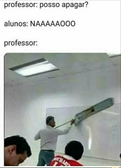 Nosso teacher - meme