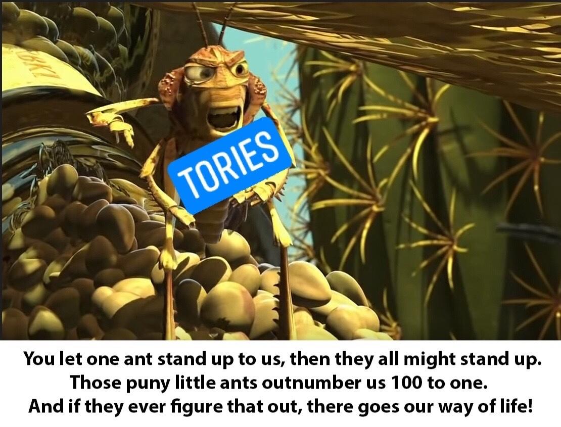 """tories about us """"scum"""" - meme"""