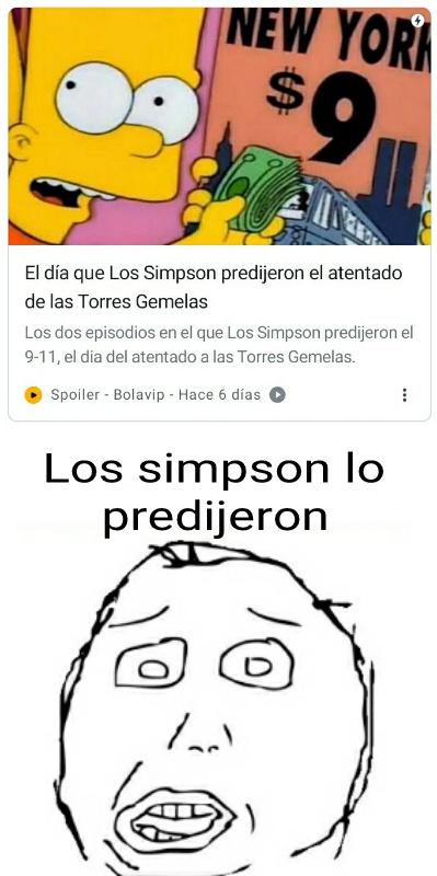 Los simpson predicen cosas = Pendejo - meme