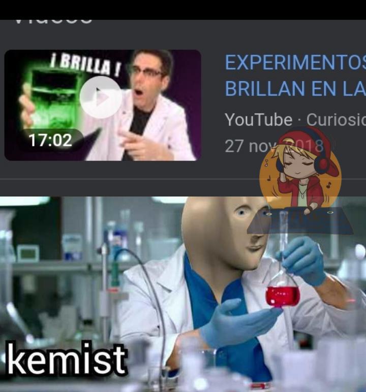 Curiosidades con kemist - meme