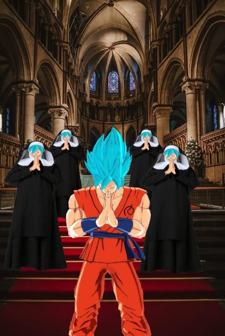 Goku cristiano - meme