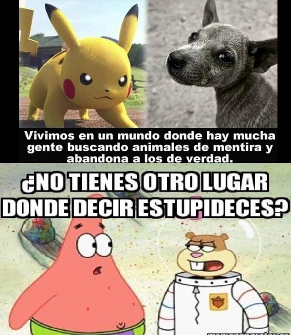 mascotas y pokemon go - meme