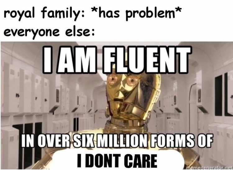 six million forms of I don't care - meme