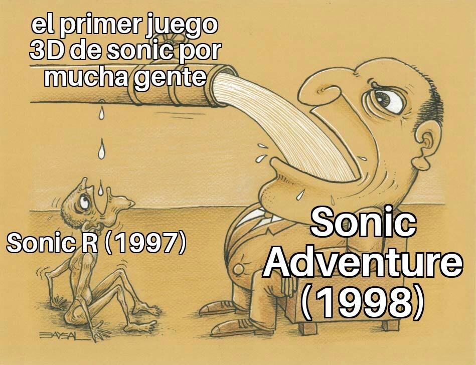 Fue sonic R no sonic Adventure cientificamente - meme