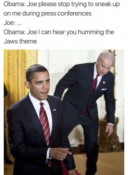 Don't sneak up on me Joe... - meme