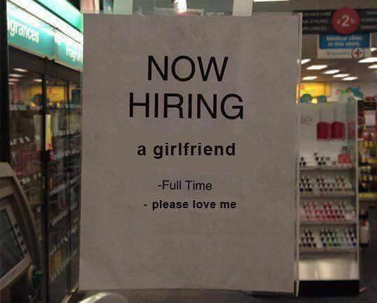 Looking for a girlfriend - meme