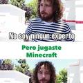 El título está jugando Minecraft