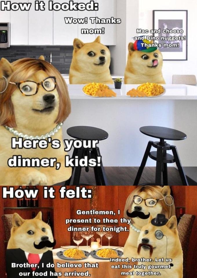 Le fancy dinner for a 7 year old has arrived - meme