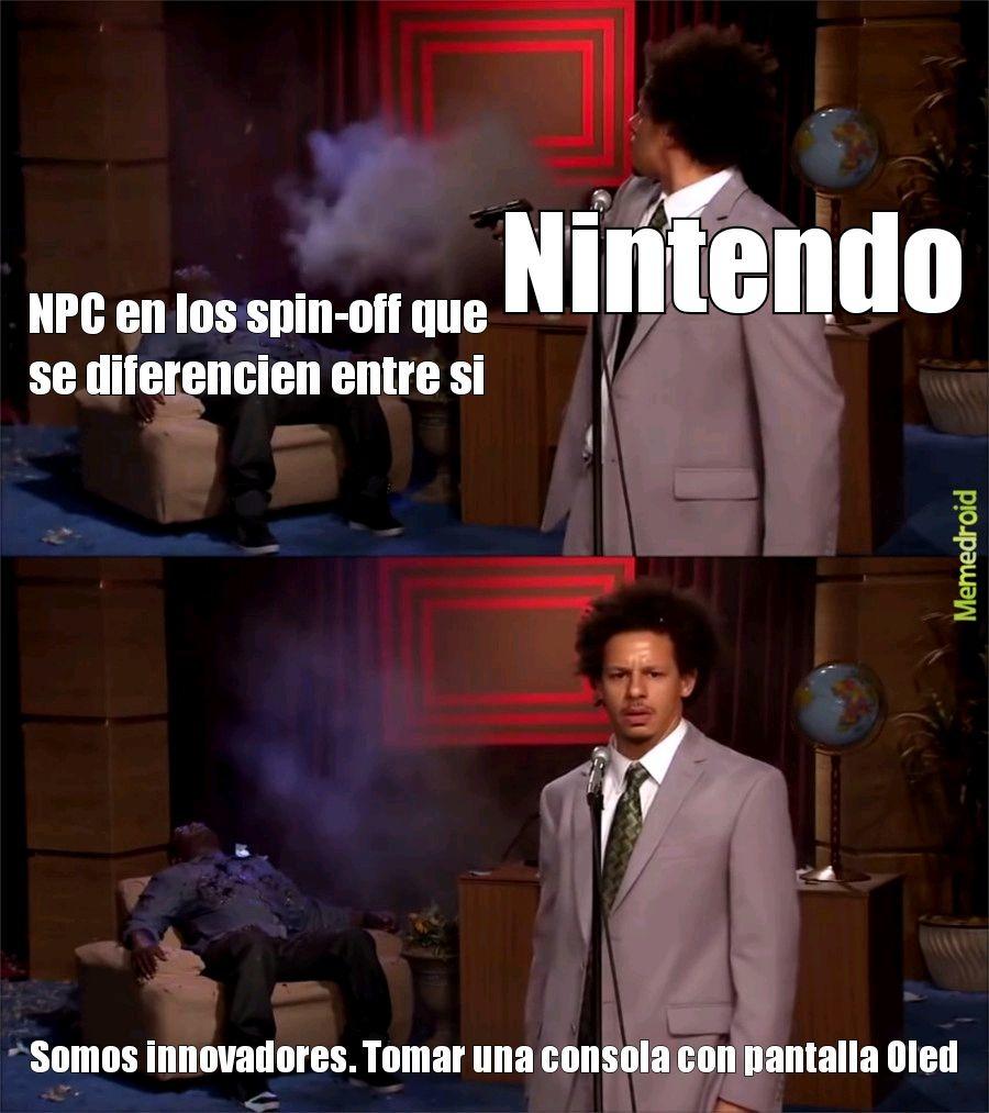 Nintendo hoy en dia es una mierda - meme