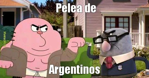 Pelea de argentinos - meme
