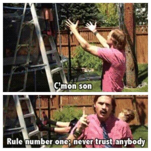 Dont trust him - meme