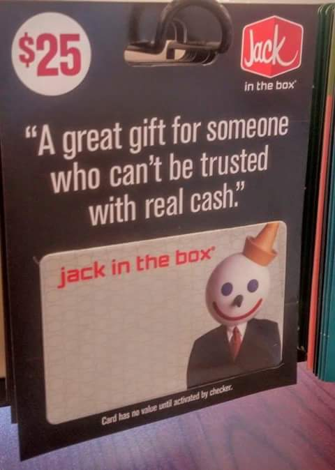I only give gift cards as presents - meme
